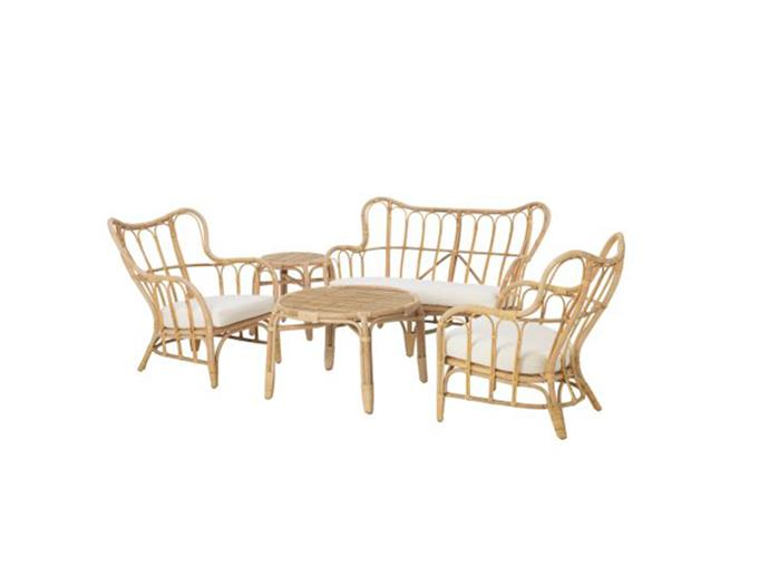 """**Jessi Deakin and Sarah Yarrow, BlackArrow Co:** """"We recently put this outdoor setting in a client's courtyard.""""  *MASTHOLMEN four-seat conversation set, $671, at [IKEA](https://www.ikea.com/au/en/catalog/products/S29216679/
