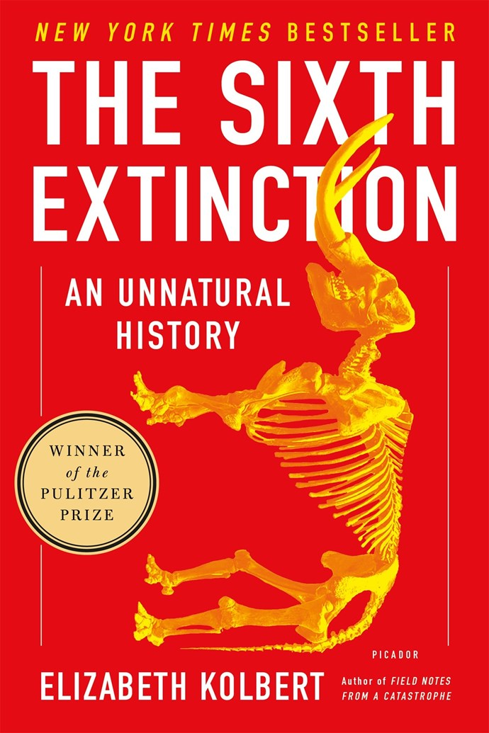 """Over the last half a billion years there have been 5 mass extinctions. In this Pulitzer Prize-winning book, Elizabeth Kolbert explores how a 6th extinction is just around the corner—caused by our harmful actions on the environment.  <br><br> *The Sixth Extinction: An Unnatural History* by Elizabeth Kolbert, $21.18 at [The Book Depository](https://www.bookdepository.com/The-Sixth-Extinction-Elizabeth-Kolbert/9781250062185?redirected=true&utm_medium=Google&utm_campaign=Base1&utm_source=AU&utm_content=The-Sixth-Extinction&selectCurrency=AUD&w=AF45AU967S2KHUA80RX1&pdg=pla-104398008339:kwd-104398008339:cmp-680104063:adg-35441289072:crv-151945028117:pid-9781250062185:dev-c&gclid=CjwKCAjw7vraBRBbEiwA4WBOn6NEhbYUZUfv6TDzXyPEwmrtHMtc5YQuFGQj-XD1pknBbUaRR3XhrxoC5YoQAvD_BwE target=""""_blank"""" rel=""""nofollow"""")."""