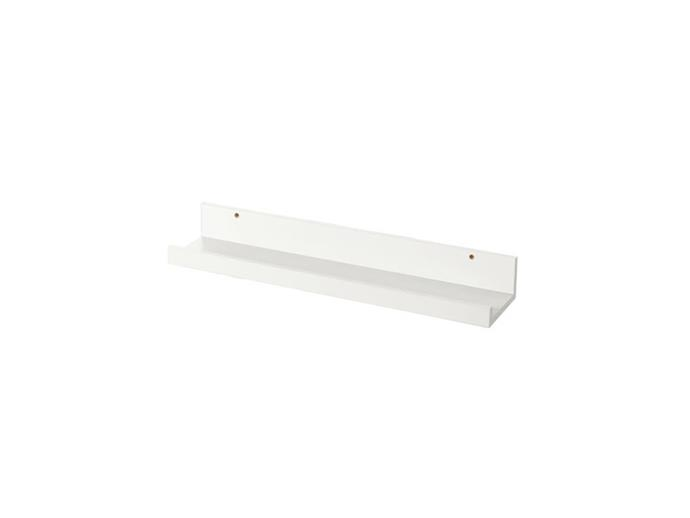 """**Alice Kohler, interior designer:** """"Picture ledges are great, and you can paint them the same colour as your walls for a custom joinery look.""""  *MOSSLANDA picture ledge, $7.99, at [IKEA](https://www.ikea.com/au/en/catalog/products/30297467/