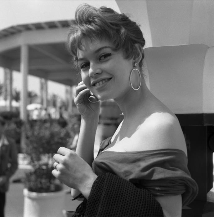 At Cannes Movie Festival, 1955