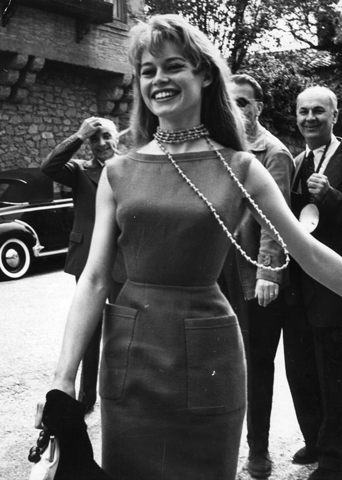 Arriving at Cannes Film Festival, 1956