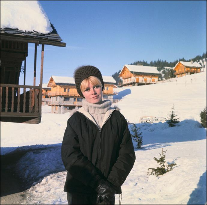 In the French Alps, circa. 1960