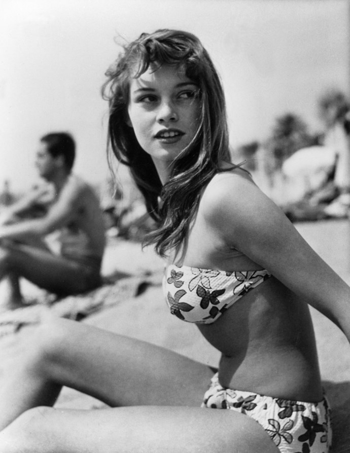 At the beach, circa. 1952