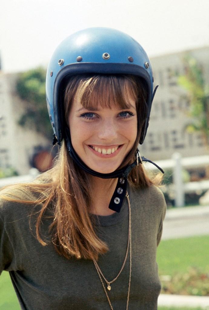 Making a bike helmet look chic.