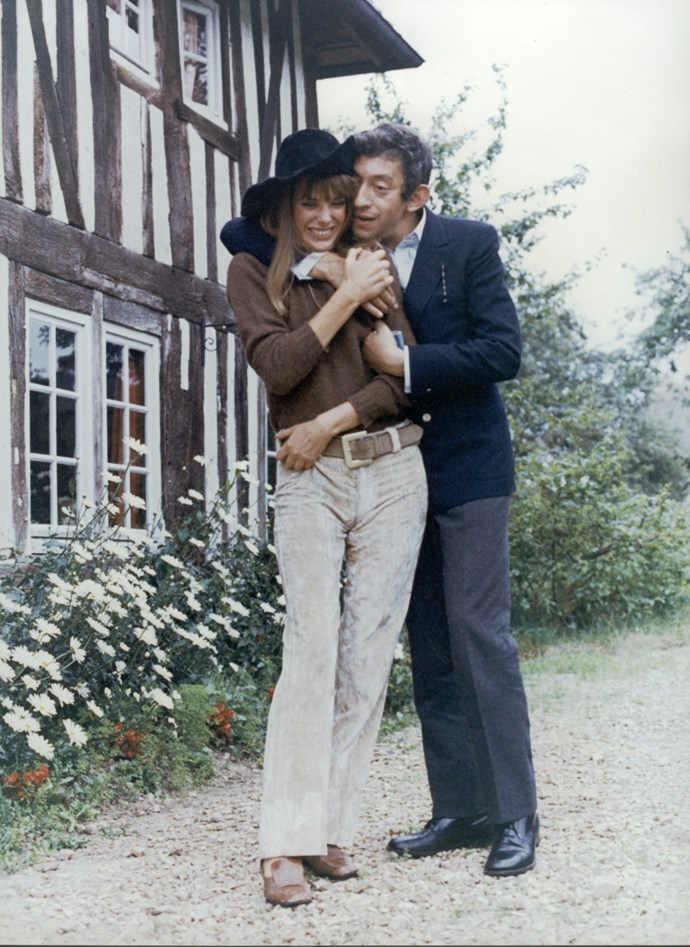 In the perfect hat while getting cosy with former partner Serge Gainsbourg.