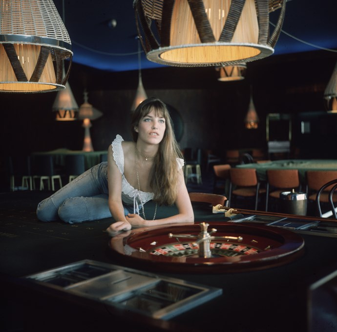 Lounging on a pool table in 1965.