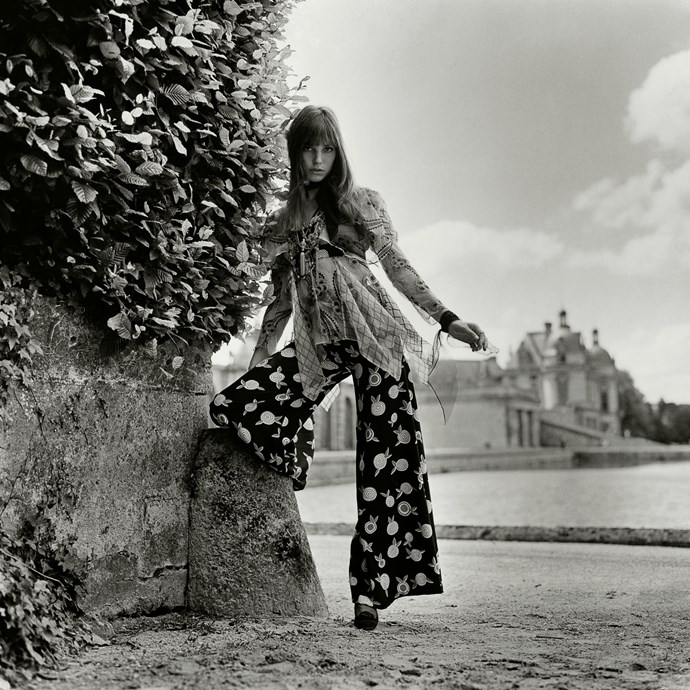 Catching the breeze in floaty florals in 1969.