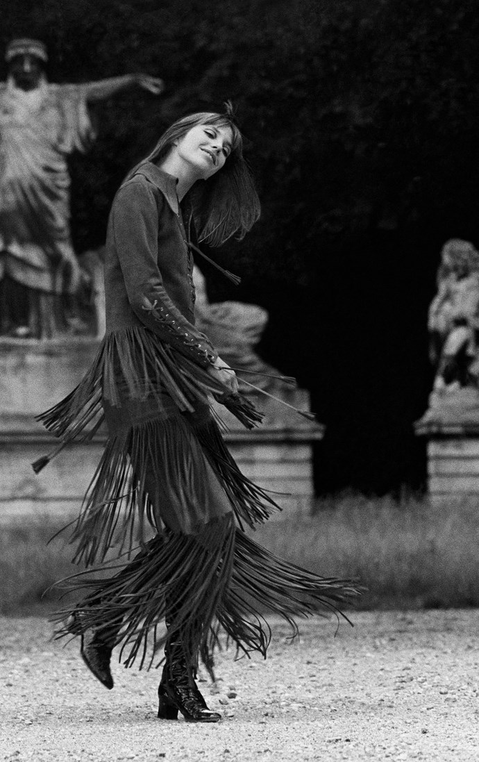 Swinging her fringe around in 1969.