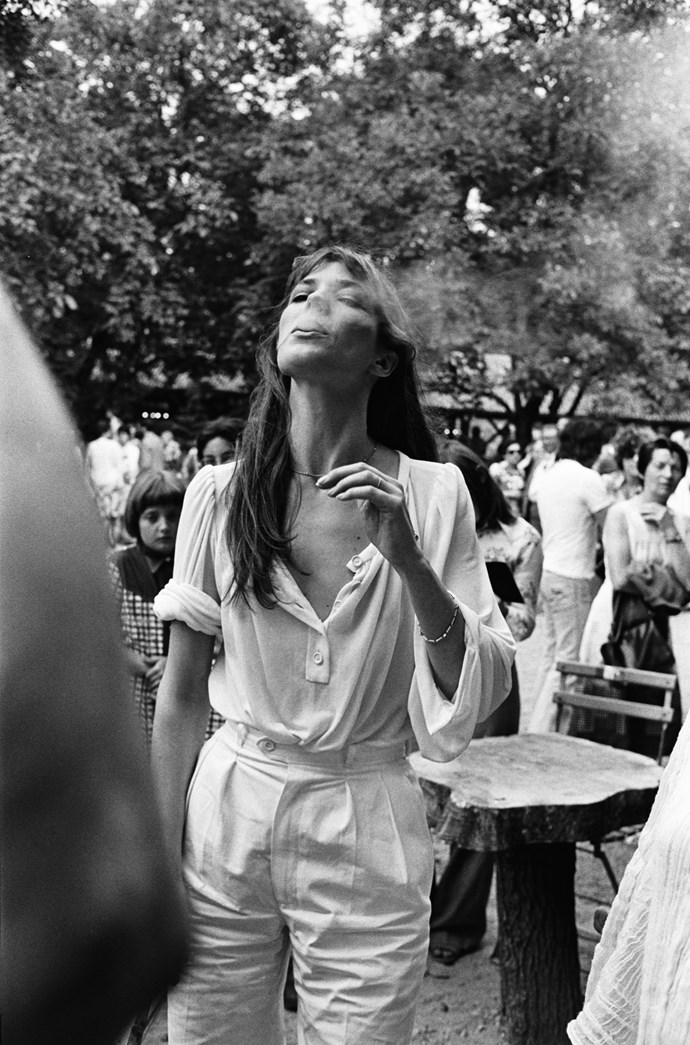 In the perfect white blouse in 1977.