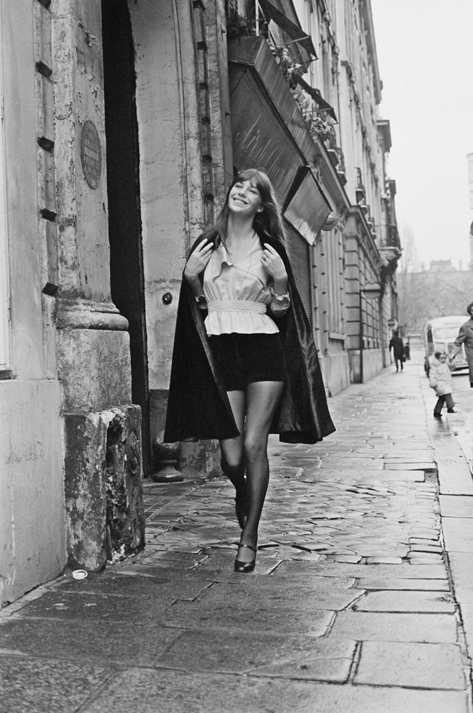 In velvet shorts in 1971.