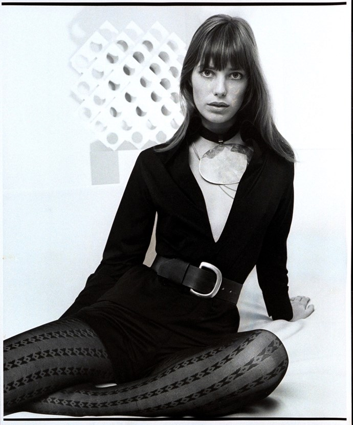 Posing for *Vogue* in 1971.