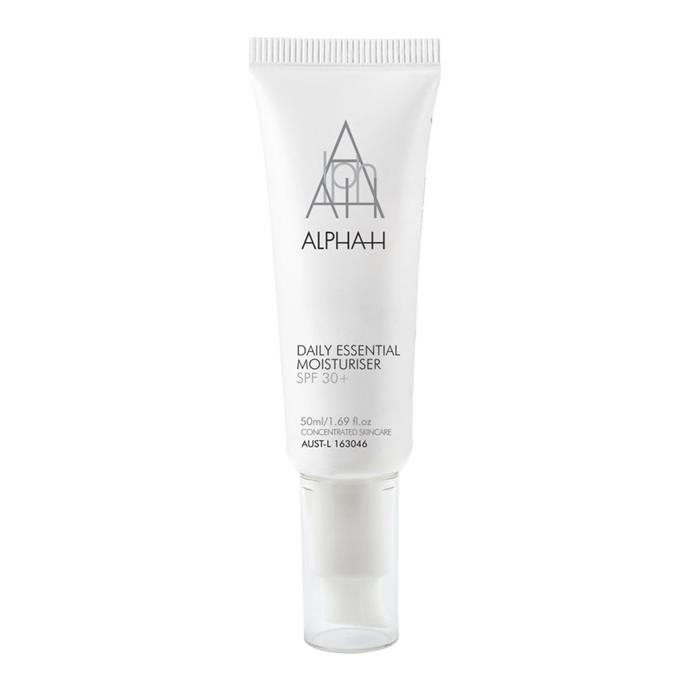 "This hydrating cream is ideal for those with dry skin.<Br><br> Daily Essential Moisturiser SPF 30+ by Alpha-H, $47 at [Sephora](https://www.sephora.com.au/products/alpha-h-daily-essential-moisturiser-spf30-plus|target=""_blank""