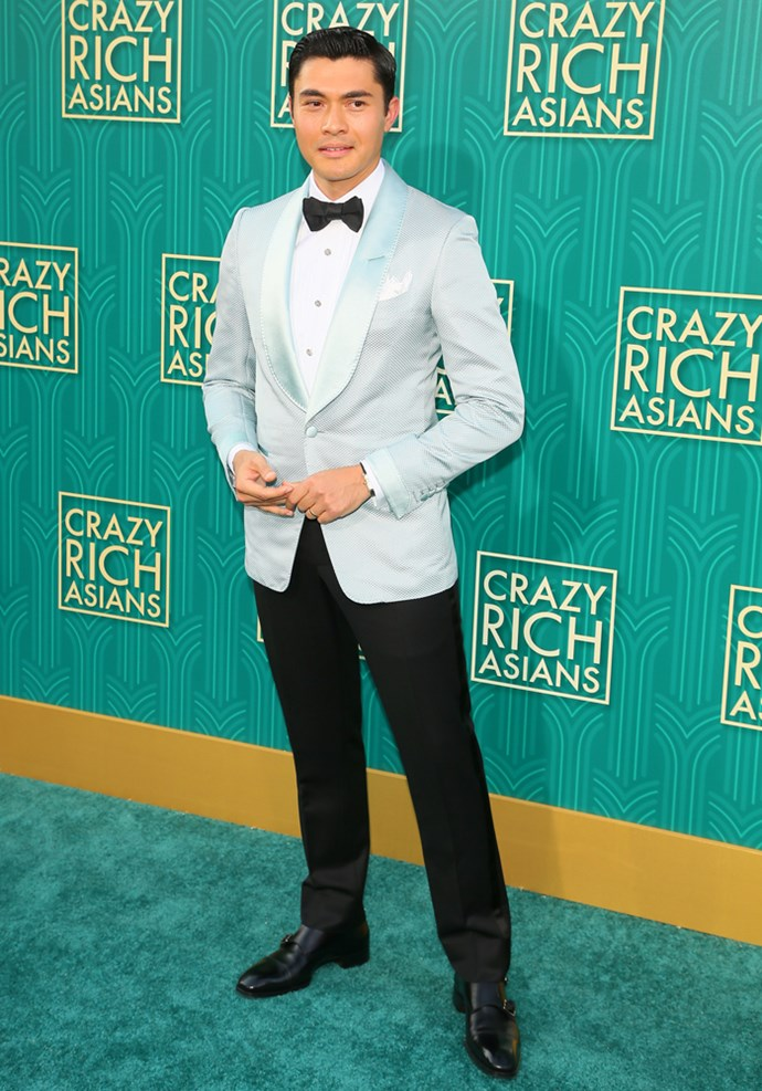 Henry Golding in Tom Ford.