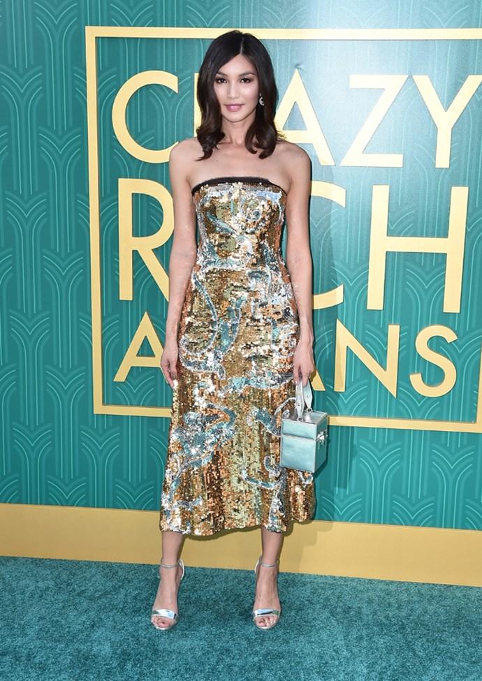 Gemma Chan in Oscar de la Renta.