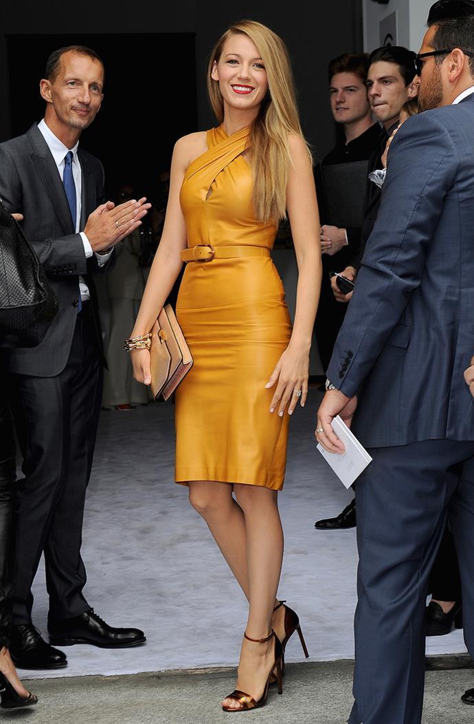 Wearing Gucci at Milan Fashion Week on 18th September, 2013