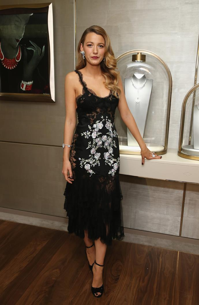 Wearing Marchesa at Van Cleef & Arpels flagship store opening in New York on 10th December, 2013