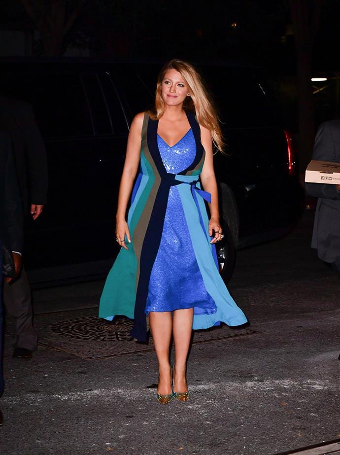 Wearing Diane von Furstenberg in New York on 12th July, 2016
