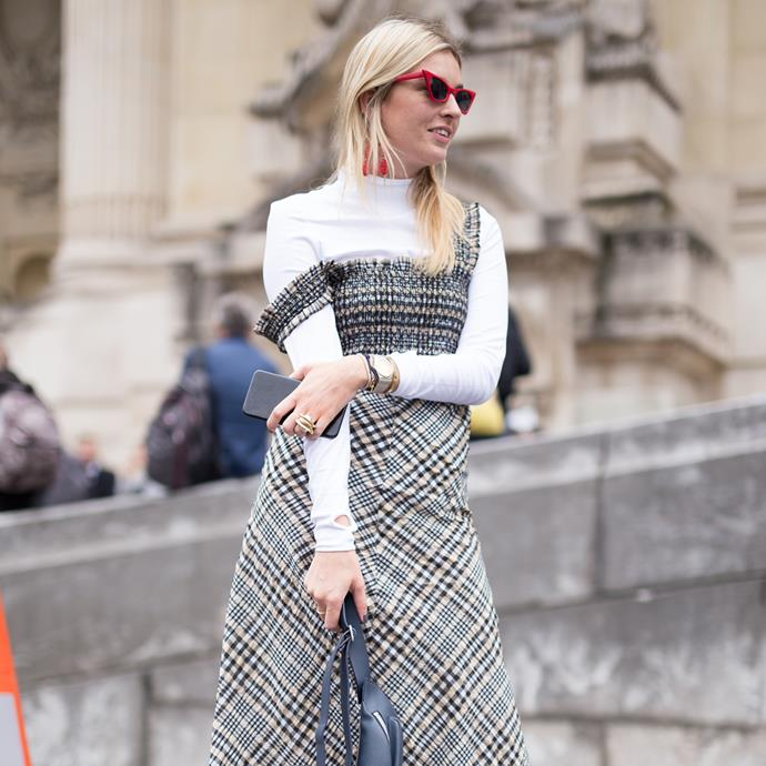 Camille Charriere in Ganni.