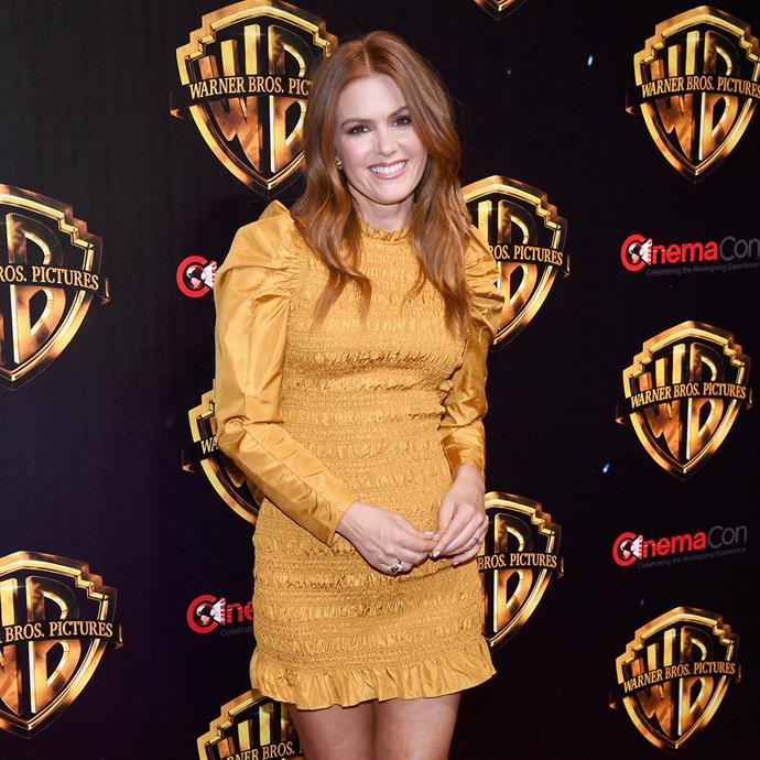 Isla Fisher in Ulla Johnson.
