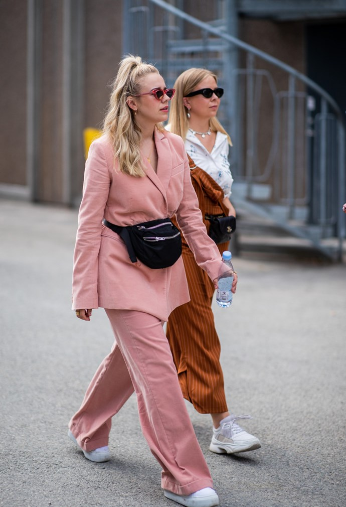 **3. Oversized Neutral Suits**