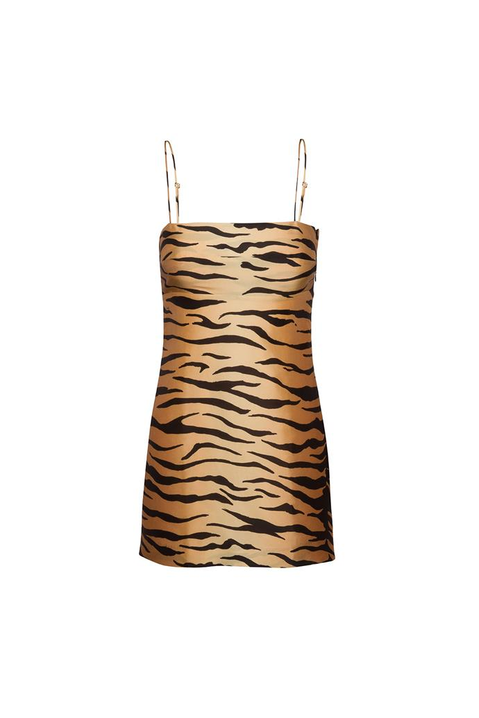 "***Animal prints***<br><br> This cult Réalisation Par dress may just take over from the leopard-print slip skirt as the It-piece of the season.<Br><br> Dress, $247 at [Réalisation Par](https://realisationpar.com/the-christy-tiger/|target=""_blank""