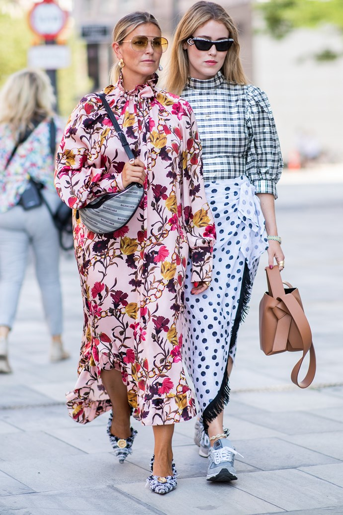 ***Clashing prints***<br><br> If you're into prints, why stop at one? Summer will see us clash our prints—tartan against polka dots; checks against stripes—for an extra dose of fun.