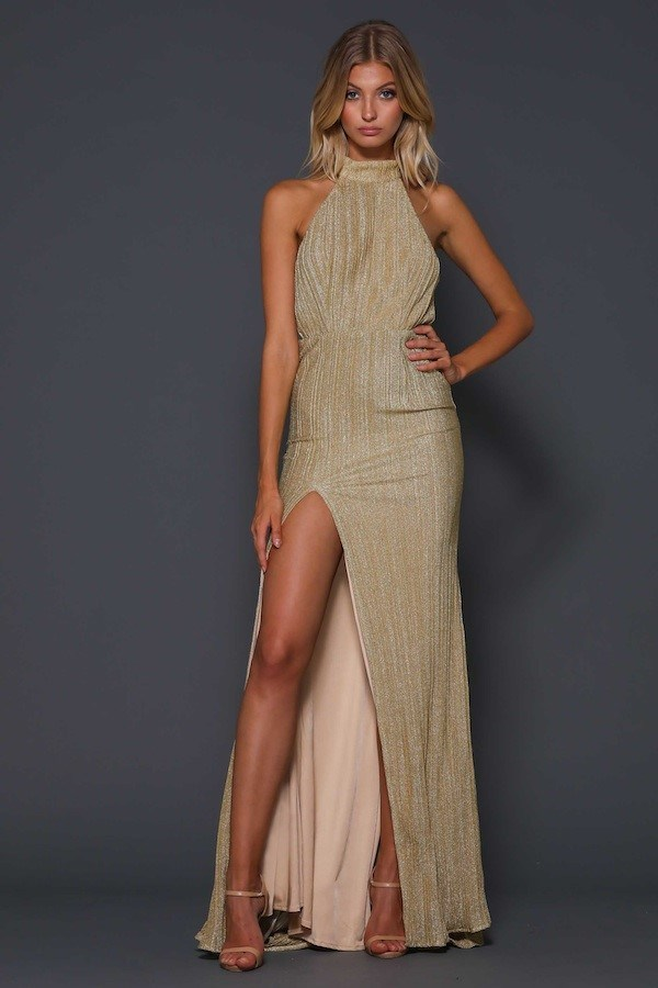 "'Blair Rose' gown, $359, [After Dark](https://www.afterdark.com.au/shop/black-tie-gowns/ezl067-blair-rose-gown-pre-order-arriving-23rd-june/|target=""_blank""