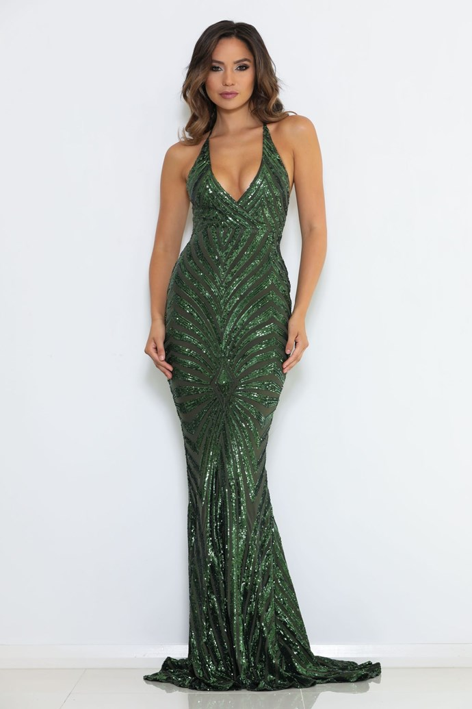 "'Valentina' gown, $420, [After Dark](https://abyssbyabby.com/collections/dresses/products/valentina-pre-order-1?variant=8784571236469|target=""_blank""