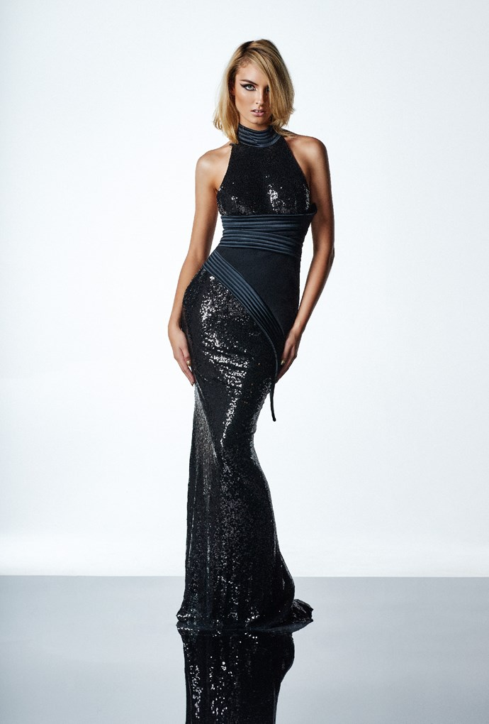 "'Ricochet' gown, $770, [After Dark](https://www.afterdark.com.au/shop/black-tie-gowns/zh0020-ricochet-gown/|target=""_blank""