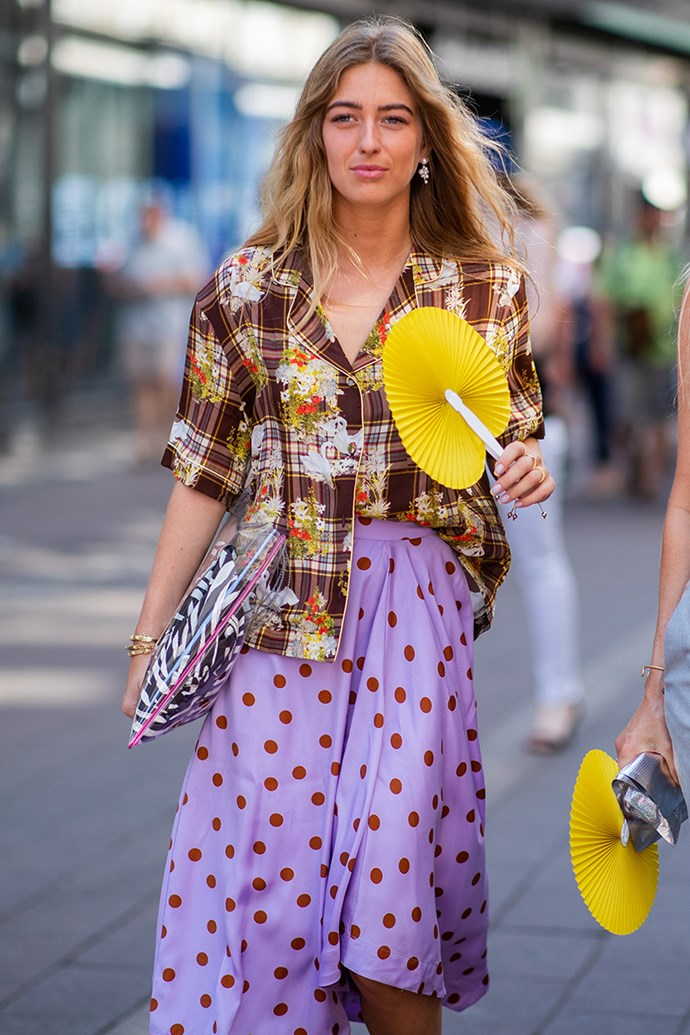 **3. Hawaiian Shirts** <br><br> Emily Sindlev at Copenhagen Fashion Week spring/summer '19