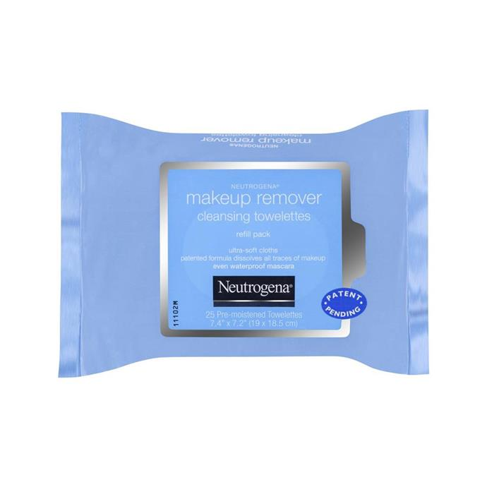 "Neutrogena Makeup Remover Cleansing Towelettes, $8 at [Priceline](https://www.priceline.com.au/neutrogena-makeup-remover-cleansing-towelettes-25-pack|target=""_blank""