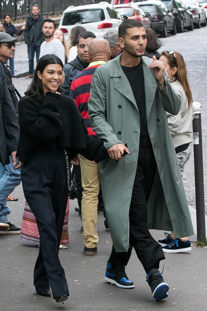 Kourtney Kardashian and Younes Bendjma in September 2017.