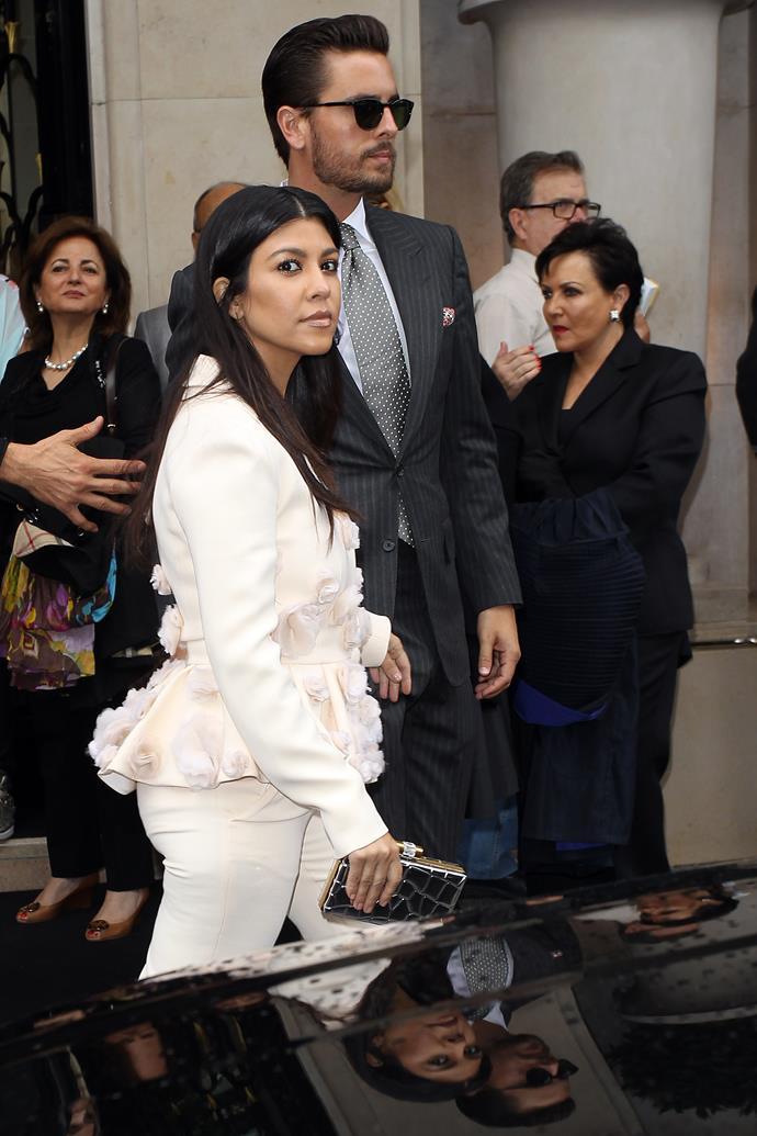 Kourtney Kardashian and Scott Disick in May 2014.
