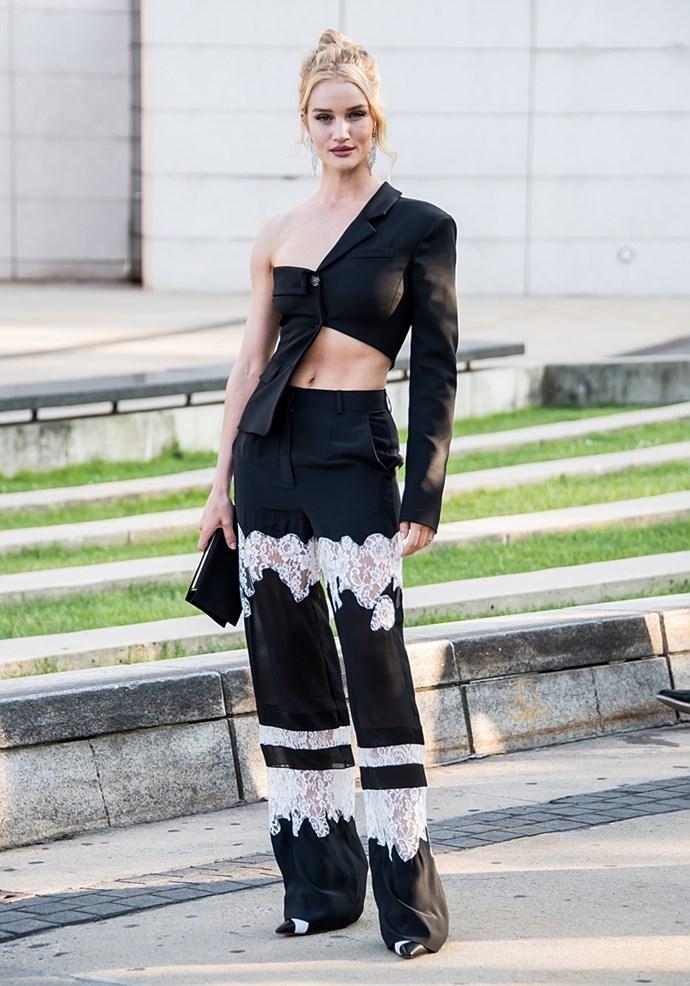Wearing asymmetrical Altuzarra coordinates in New York on June 4, 2018