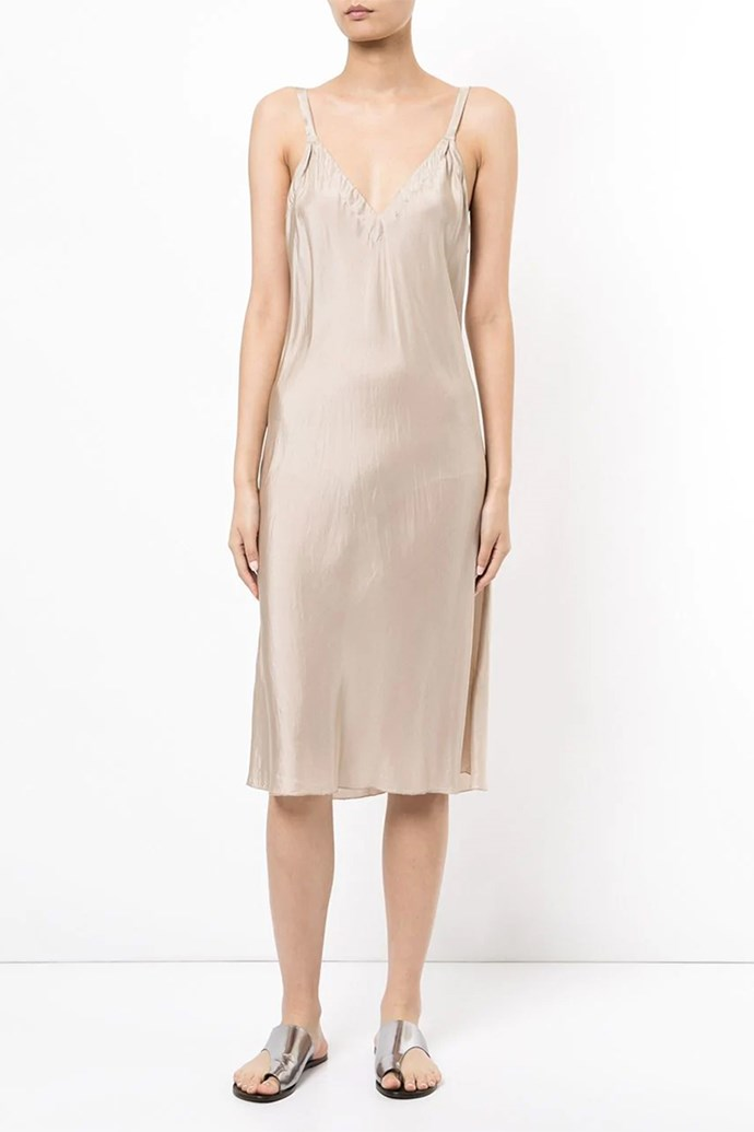 "Slip Dress by Lee Mathews, $279 at [Farfetch](https://www.farfetch.com/au/shopping/women/lee-mathews-molly-v-neck-bias-slip-dress-item-12278416.aspx?storeid=10535|target=""_blank""
