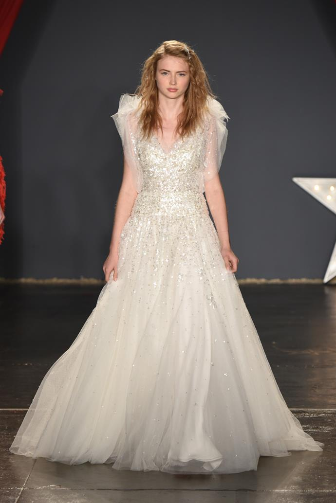 **Leo** <br><br> You know better than anyone that you enjoy being the center of attention, Leo. So when it's your wedding day, you have every reason to go all-out with a showstopping bridal dress. Frills, tulle, embellishment—you name it, it's there.