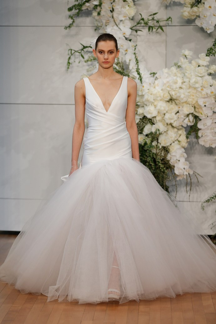 **Sagittarius** <br><br> When you walk down the aisle, you want everyone's jaws to drop. That means your dress, just like you, needs that 'wow-factor'. Try fusing two different styles to create some visual drama, like a fitted, sexy dress up top with a dramatic tulle skirt below.