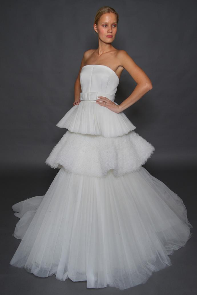 **Aquarius** <br><br> If your friends could describe you in one word, Aquarius, it's 'extra'. Your love for bold fashion and next-level luxury is central to your aesthetic. That's precisely why your wedding dress needs to follow suit. And what's more extra than a multi-tiered tulle bridal gown?