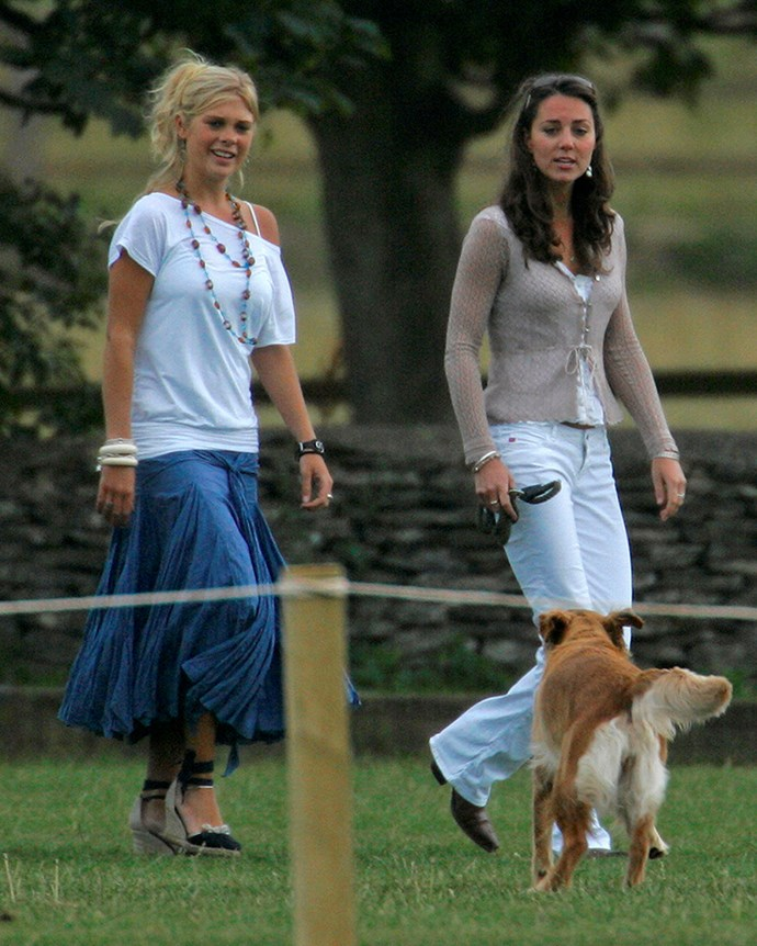 ***2006:*** Pictured with Prince Harry's then-girlfriend Chelsea Davy.