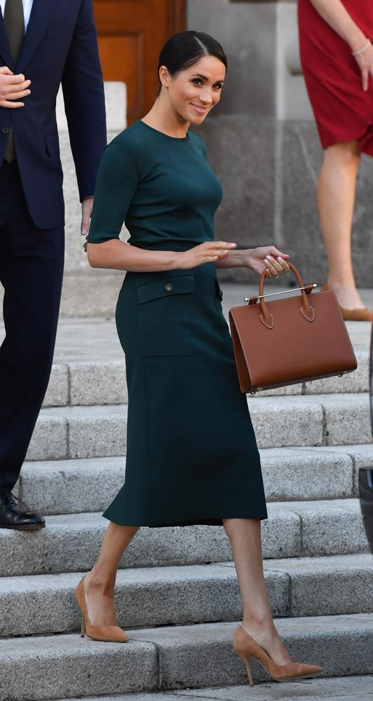 ***Dublin reception***<br><br> Top and skirt by Givenchy: $2,159<br> Bag by Strathberry: $831<br> Shoes by Paul Andrew: $848<br> Earrings by Vanessa Tugendhaft: $1,188<br> Total: **$5,026**