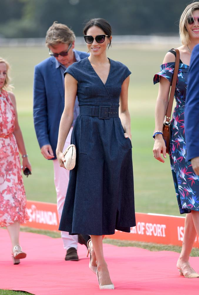 ***Sentebale Polo Cup***<br><br> Dress by Carolina Herrera: 2,981 <br> Earrings by Birks: $884<br> Sunglasses by Tom Ford: $344<br> Shoes by Aquazurra: $890<br> Bag by J.Crew: $119<br> Total: **$5,218**