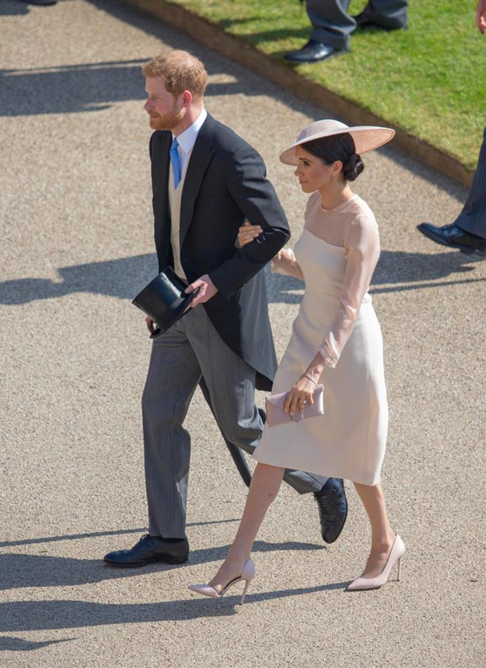 ***Prince of Wales birthday garden party***<bR><br> Dress by Goat: $988<br> Earrings by Vanessa Tugendhaft: $2,499<br> Shoes by Tamara Mellon: $611<br> Hat by Philip Treacy: $2,719<br> Clutch by Wilbur & Gussie: $357<br> Total: **$7,174**