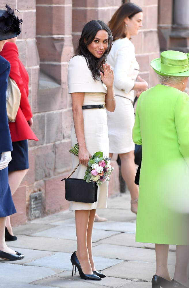 ***Visit to Chester***<bR><Br> Dress by Givenchy: $23,916<Br> Shoes by Sarah Flint: $483<Br> Belt by Givenchy: $611<Br> Clutch by Givenchy: $1,618<Br> Total: **$26,628**