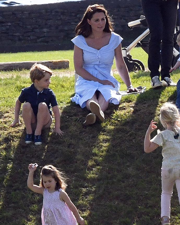 Kate Middleton with son Prince George and daughter Princess Charlotte.