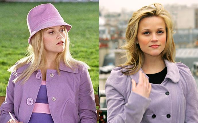 Lavender never stopped being cool, Reese just ditched the fedora.