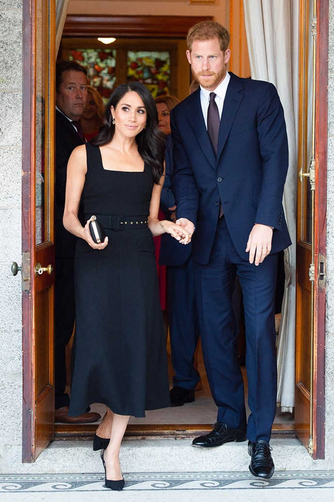 "***Black should be kept to a minimum*** <br><br> According to [*InStyle*](https://www.instyle.com/news/royal-family-fashion-rules|target=""_blank""), black shouldn't be worn by royals unless they're in mourning—most are aware of the famous rule that royals need to bring a black ensemble with them wherever they travel, in case of a family death.  <br><br> The Duchess of Sussex's gorgeous Emilia Wickstead gown unfortunately went against the age-old sartorial tradition."