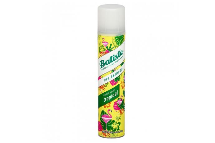 """**Dry Shampoo by Batiste, $9.95 at [Priceline](https://www.priceline.com.au/brand/batiste/batiste-dry-shampoo-tropical-200-ml