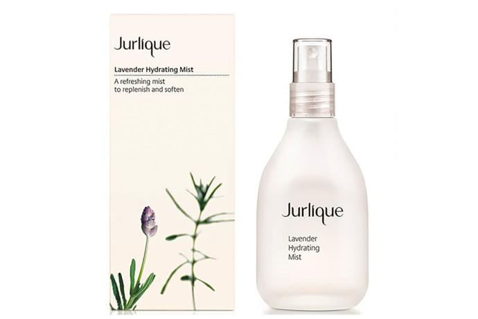 """**Lavender Hydrating Mist by Jurlique, $38 at [Beautyexpert](https://www.beautyexpert.com/jurlique-lavender-hydrating-mist-100ml/10554517.html?affil=thggpsad&switchcurrency=AUD&shippingcountry=AU&gclid=Cj0KCQjwk_TbBRDsARIsAALJSOZzJu6UPenhNlJd5GZOE2rB7rdtYf52DvTSVzqCYxsOwW_nEDU-vzIaApdVEALw_wcB&gclsrc=aw.ds&dclid=CKnznsqAgt0CFdgbKgodVkwJcQ