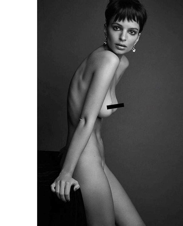 "Holding nothing back (till the censor strip was superimposed, that is).  <br><br> Instagram: [@emrata](https://www.instagram.com/emrata/|target=""_blank""