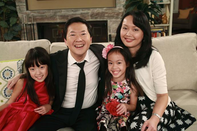 **Ken Jeong (Goh Wye Mun) ** <br><br> Ken Jeong met his wife Tran back in medical school. The couple married since 2004 and the couple have two kids together Zooey and Alexa.